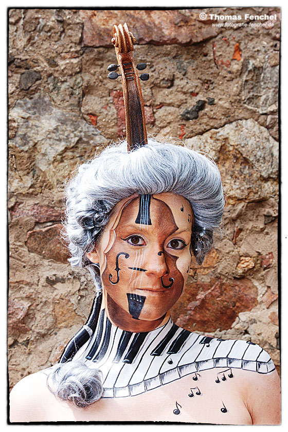 Facepainting und Bodypainting Thema Musik